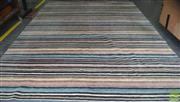 Sale 8435 - Lot 1082 - Robyn Cosgrove New Bold Stripe Pakistani Woollen Rug (421 x 301cm)