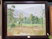 Sale 8474 - Lot 2006 - Dorothy Allen Edwards (1907 - XXI) - Countryscape with Cottage 37 x 45cm