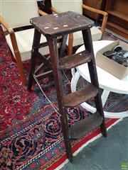 Sale 8601 - Lot 1541 - Vintage Step Ladder