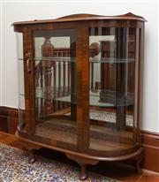 Sale 8649A - Lot 48 - An early C20th continental oak and glass display cabinet.