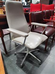 Sale 8723 - Lot 1048 - Johansen Office Chair with Grey Leather Upholstery