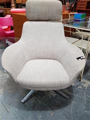 Sale 8782 - Lot 1075 - Walter Knoll Chair on Swivel Base