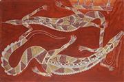 Sale 8786 - Lot 600 - Glen Namundja - Crocodile 52 x 77cm
