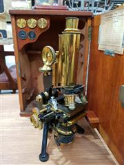 Sale 8908 - Lot 1085 - Vintage Cased Watsons and Sons Scientific Microscope