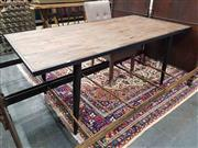 Sale 8912 - Lot 1030 - Industrial Metal Base Dining Table with Recycled Top