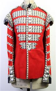 Sale 9003 - Lot 52 - Mid 20th Century British Military Uniform, drummers jacket of the Coldstream Guards, with old mannequin