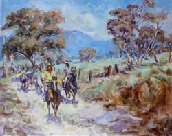 Sale 9093A - Lot 5012 - George Brooke (1913 - 1993) - The Long Way Home 61 x 76 cm (frame: 81 x 97 x 5 cm)