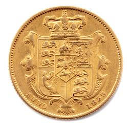 Sale 9130E - Lot 60 - A William IV 22 carat gold sovereign dated 1833, Royal Mint, weight 7.85g