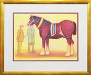 Sale 8297 - Lot 533 - Bob Marchant (1938 - ) - The Champion 55 x 75cm