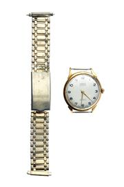 Sale 8333 - Lot 373 - GENTS 18CT GOLD AUTOMATIC WRISTWATCH; white dial signed TOURIST (private label) with Arabic numerals seconds sweep on a  Swiss 17 j...