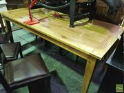 Sale 8418 - Lot 1097 - French Oak Dining Table (H 80 x L 180 x W 90cm)