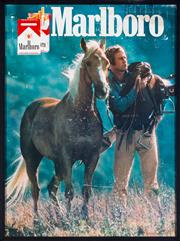 Sale 8451 - Lot 1075 - An Original vintage Marlboro advertising poster in recent box framing, 102 x 77cm