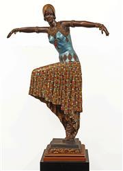 Sale 8633A - Lot 5019 - After Demetre Chiparus (1886 - 1947) - Dancer h.99 (overall: 179cm )