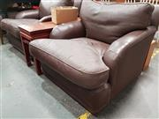 Sale 8724 - Lot 1056 - Pair of Leather Armchairs