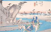 Sale 8794A - Lot 5050 - After Utagawa Hiroshige (1797 - 1858) - The Okitsu River near Okitsu, no. 18 from the series Fifty-three Stations of the Tokaido 22...
