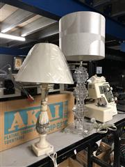 Sale 8789 - Lot 2272 - 2 Table Lamps and Shades