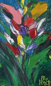 Sale 8867 - Lot 517 - Kevin Charles (Pro) Hart (1928 - 2006) - Floral 21 x 13cm