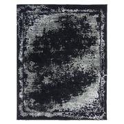 Sale 8912C - Lot 68 - Turkish Woven Border Design in Carpet Black/Silver/Ivory, 240x300cm, Wool & Bamboo Silk