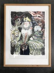 Sale 8964 - Lot 2063 - Elizabeth Hunter La Regina (The Queen) colour lithograph ed. AP, 67 x 51cm (frame), signed