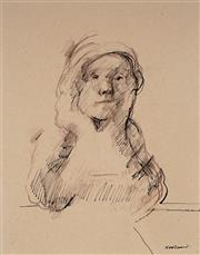 Sale 9063A - Lot 5017 - Margaret Woodward (1938 -) - The Listener 37.5 x 30 cm (frame: 65 x 55 x 2 cm)