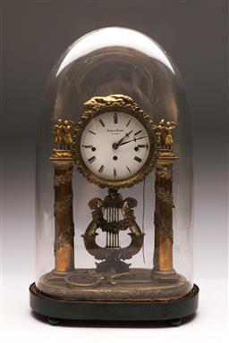 Sale 9122 - Lot 14 - Johann Schodl In Wien German Gilt Domed Mantle Clock H: 43cm