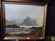Sale 8407T - Lot 2043 - C Twomey (XX) - Coastal Scene 49.5 x 59cm