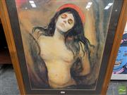 Sale 8461A - Lot 2004 - Framed Print of Female Nude
