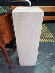 Sale 8611 - Lot 1001 - Travertine Plinth