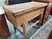 Sale 8868 - Lot 1002 - Antique Pine Dough Bin, of tapering form, with loose cover