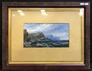 Sale 8945 - Lot 2111 - Artist Unknown Tempest Sea gouache, 44 x 56cm (frame), inscribed Owen G? verso -