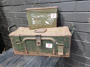 Sale 8962 - Lot 1068 - Graduated Metal Ammo Boxes (largest H:40 x L:20 x D:20cm)