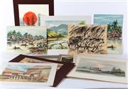 Sale 8994H - Lot 94 - Collection of Indonesian school works on paper -