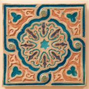 Sale 9071H - Lot 27 - A large ceramic tile of Moroccan influence 36cm x 36cm
