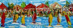 Sale 9093A - Lot 5015 - Evan Mackley (1940 - 2019) - Beside the Stream 19 x 50 cm (frame: 50 x 78 x 4 cm)