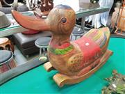 Sale 8424 - Lot 1040 - Carved Timber Rocking Mallard