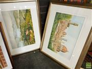 Sale 8491 - Lot 2072 - Jim Keller (2 works) Tuscan Scenes, watercolours, frame size: 64 x 82cm, each, signed lower right, each