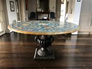Sale 8782A - Lot 92 - An Italian Scagliola circular table, a copy of the Apollo e le Muse  by Giovanni Batista Giorgi in Galleria Palatina Pitti Palace...