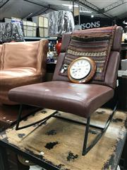 Sale 8868 - Lot 1602 - Modern Leather Rocking Chair