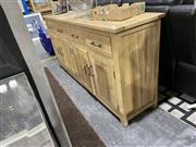 Sale 8876 - Lot 1039 - Timber Parquetry Top Sideboard with 4 Drawers and Shelving