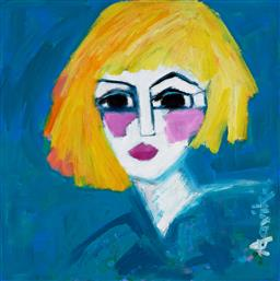 Sale 9154JM - Lot 5001 - LEENE AAVIK Blonde & Beautiful acrylic on canvas 50 x 50 cm signed lower right, titled verso