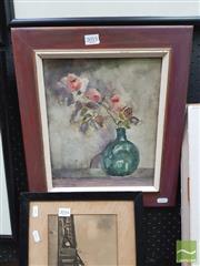 Sale 8449 - Lot 2015 - Jean Lonie - Roses 29.5 x 24.5cm