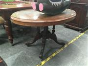Sale 8724 - Lot 1015 - Inlaid Loo Table over Birdcage Base