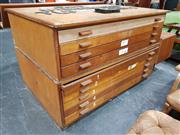 Sale 8859 - Lot 1056 - Abbess 2 Piece 9 Drawer Map Chest