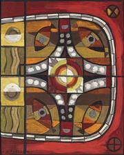 Sale 8892 - Lot 587 - J R Ferguson - Untitled 55.5 x 80.5 cm