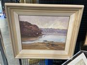 Sale 8995 - Lot 2003 - Peter Whelan Moorings and Shack by the River 1994 oil on board, 61 x 71cm (frame) signed and dated