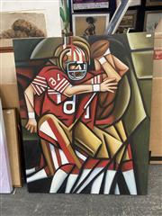 Sale 9028 - Lot 2072 - Artist Unknown The Quarterback acrylic 100 x 80cm