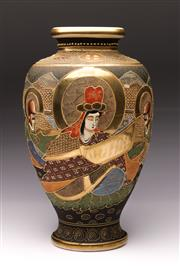 Sale 9078 - Lot 141 - A Japanese Satsuma Vase Decorated With Characters H: 31cm