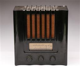 Sale 9114 - Lot 1 - Murphy Bakelite Radio (H:34cm W:31.5cm D:17cm)