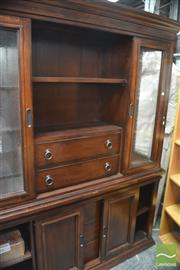 Sale 8289 - Lot 1018 - Large Glass Front Wall Unit
