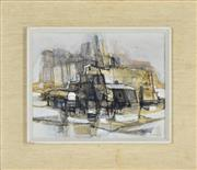 Sale 8325 - Lot 586 - Max Gunther (1934 - 1974) - Au Village, 1963 24 x 30cm